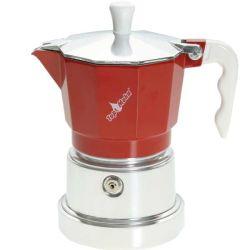TOP MOKA Espressokocher  Rot 3 Tassen