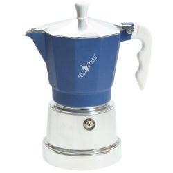 TOP MOKA Espressokocher blau 3 Tassen