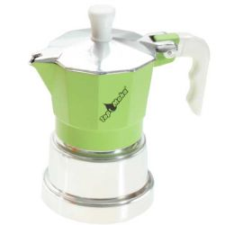 TOP MOKA Espressokocher Grün  3 Tassen