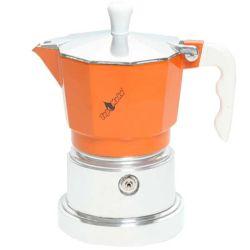 TOP MOKA Espressokocher orange 3 Tassen