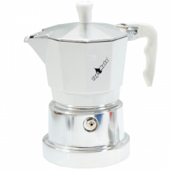 TOP MOKA Espressokocher weiß 3 Tassen