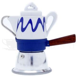 Top Moka Goccia Mokakanne Blau | 3 Tassen
