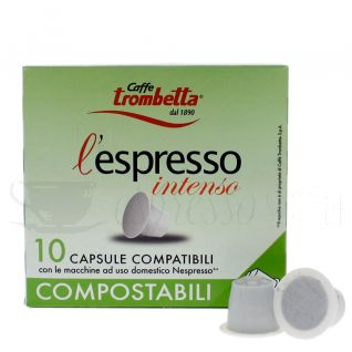 Trombetta Intenso kompostierbar Nespressso-C325-Bild1