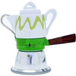 espressokocher grün top moka