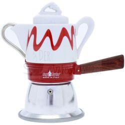 Espressokocher top moka goccia rot