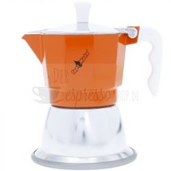 Induktion Espressokocher Top Moka | Orange 3 Tasse