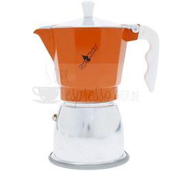TopMoka Induktion Espressokocher | Orange 6 Tassen