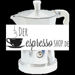 TOP MOKA Espressokocher weiß 1 Tasse